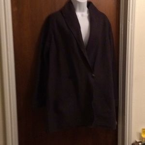 LL Bean dark plum boiled wool jacket. Women's med